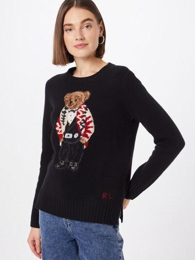 Polo Ralph Lauren Svetr - krémová / hnědá / červená / černá / bílá, Model/ka
