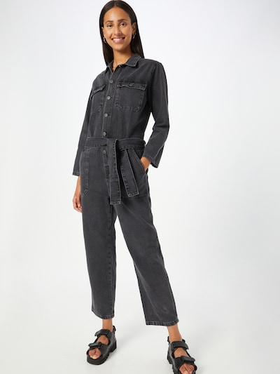 AMERICAN VINTAGE Jumpsuit 'Yopday' in schwarz, Modelansicht