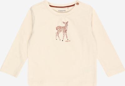 Noppies Shirt 'Saco' in braun / weiß, Produktansicht