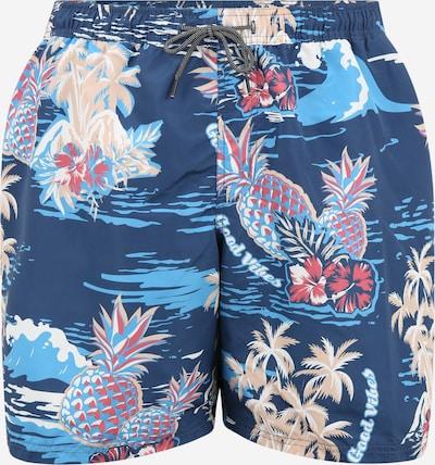 Jack & Jones Plus Zwemshorts 'BALI' in de kleur Navy / Smoky blue / Poederroze / Grenadine / Wit, Productweergave