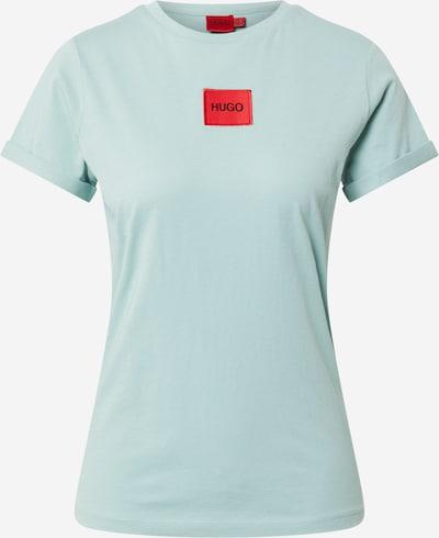 Tricou HUGO pe verde pastel / roșu / negru, Vizualizare produs