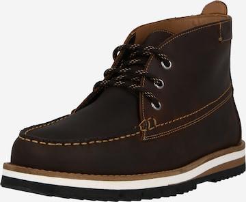 CLARKS Μπότες με κορδόνια 'Durston' σε καφέ
