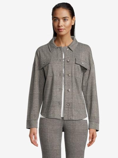 Betty & Co Overshirt mit Kragen in grau, Modelansicht