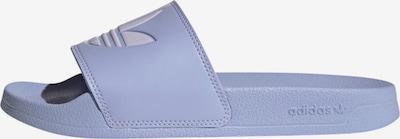ADIDAS ORIGINALS Zapatos para playa y agua 'Adilette' en lila / blanco, Vista del producto