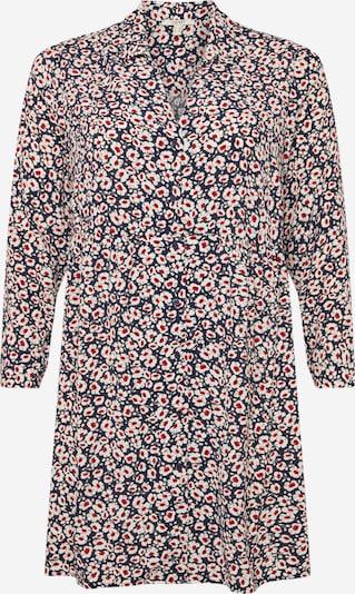 Esprit Curves Kleid in navy / rot / weiß: Frontalansicht