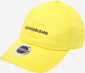 Calvin Klein Jeans Lippalakki 'MONOGRAM' värissä keltainen