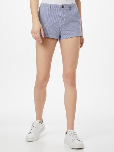Superdry Pantalon chino en bleu / blanc, Vue avec modèle