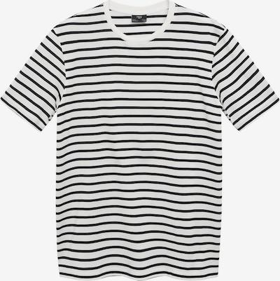 Tricou 'JAMES' MANGO MAN pe negru / alb murdar, Vizualizare produs