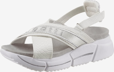 bugatti Sandale in silbergrau / offwhite, Produktansicht