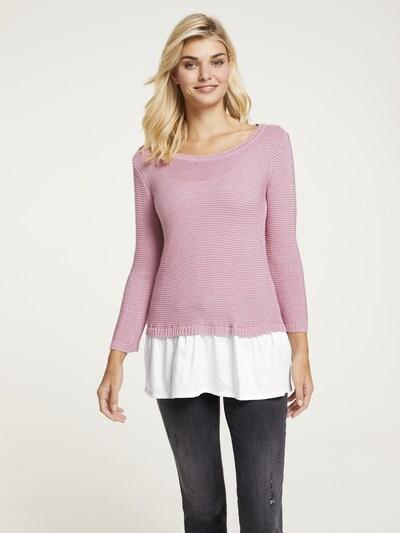 heine Pullover in rosé / weiß, Modelansicht