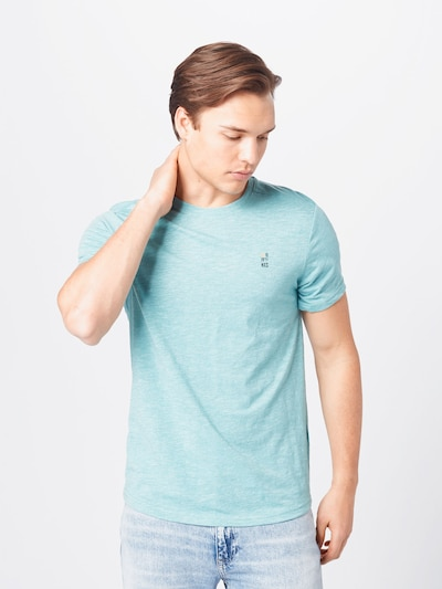 No Excess T-Shirt in türkis / schwarz / weißmeliert: Frontalansicht