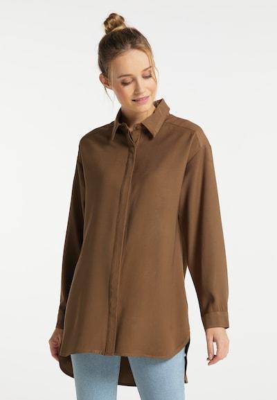 DreiMaster Vintage Bluse in hellbraun, Modelansicht