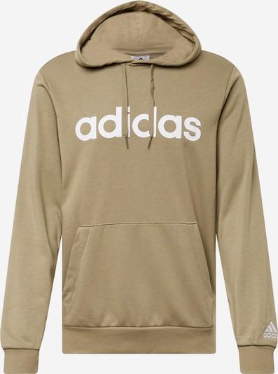 ADIDAS PERFORMANCE Sports sweatshirt in Khaki / White, Item view