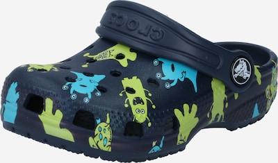 Crocs Clogs 'Classic Monster' in navy / hellblau / hellgrün, Produktansicht
