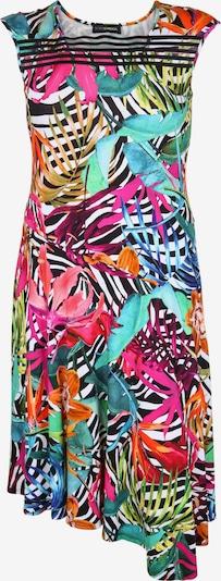 Doris Streich Jerseykleid mit floralem Muster in blau, Produktansicht