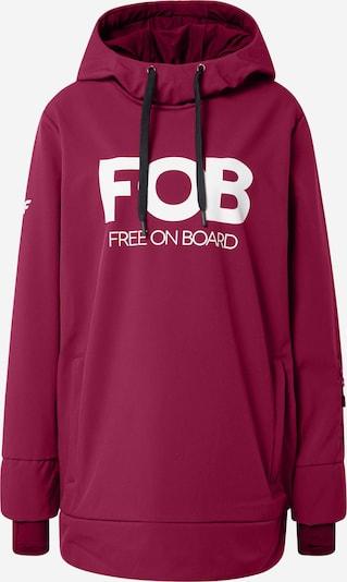 4F Jacke in burgunder / weiß, Produktansicht