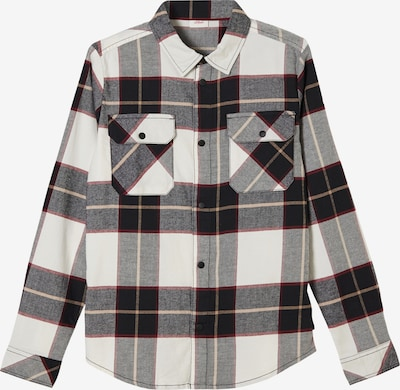 s.Oliver Button Up Shirt in Beige / Dark red / Black / natural white, Item view