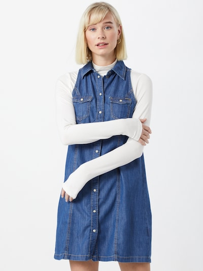 Pepe Jeans Shirt dress 'JESS' in Blue denim, View model