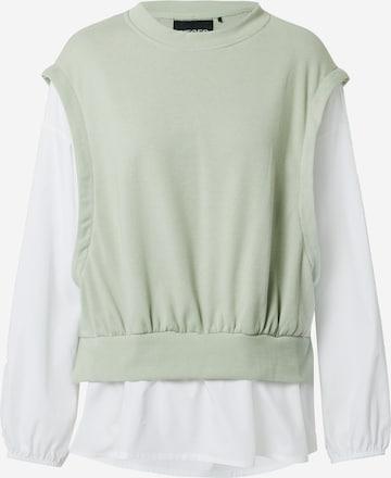 PIECES Sweatshirt 'LAMSI' in Green