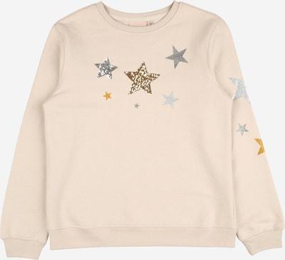 KIDS ONLY Sweatshirt 'SILJE' in beige / goldgelb / silbergrau, Produktansicht