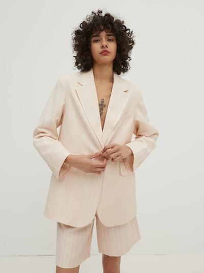 EDITED Blazer 'Daphne' in rosa / weiß, Modelansicht
