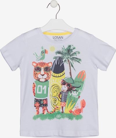 LOSAN Shirt in gelb / grasgrün / orange, Produktansicht
