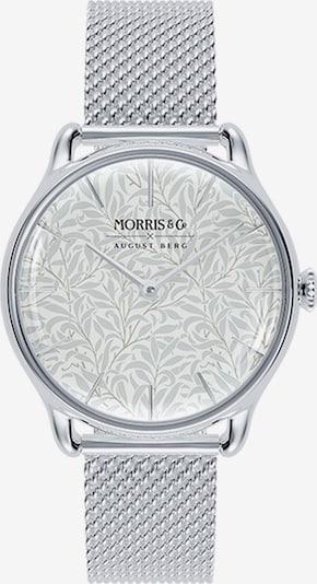 August Berg Analoog horloge 'MORRIS & CO Silver Willow Boughs Mesh 30mm' in de kleur Zilver / Wit, Productweergave