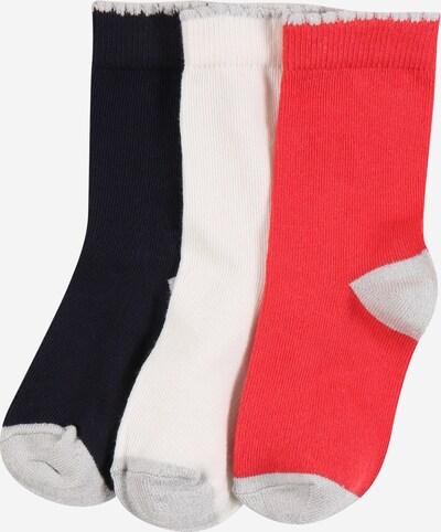 PETIT BATEAU Socken in grau / rot / schwarz / weiß, Produktansicht