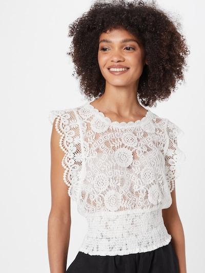PIECES Bluse 'MIRINA' i hvid, Modelvisning