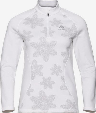 ODLO Pullover in silber / weiß, Produktansicht