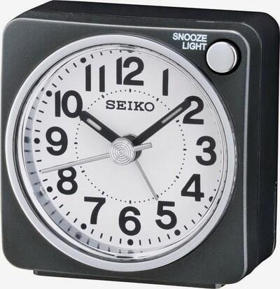 SEIKO Wecker in schwarz / weiß, Produktansicht