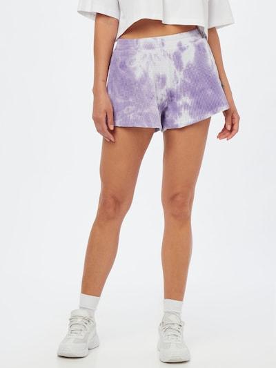 Pantaloni 'Bowilove' AMERICAN VINTAGE pe mov liliachiu / alb, Vizualizare model