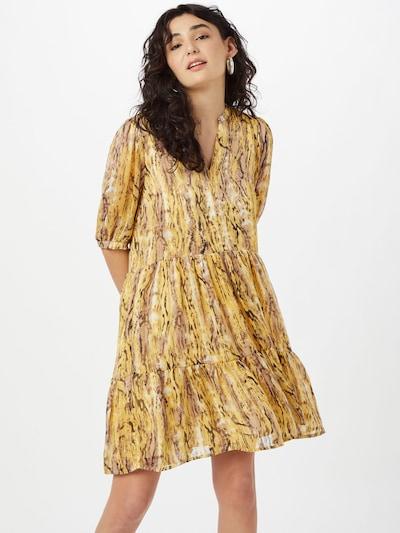 Rochie 'Amarillo' OBJECT pe bej deschis / galben / negru, Vizualizare model