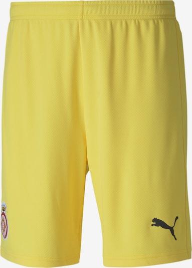 PUMA Sporthose 'Girona' in gelb / grau / blutrot, Produktansicht