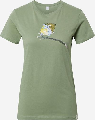 Maglietta 'It Birdy' Iriedaily di colore oliva / colori misti, Visualizzazione prodotti
