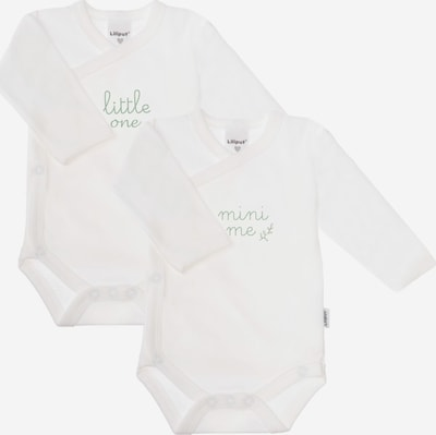 "LILIPUT Wickelbody, langarm (2er Pack) weiß ""little one / mini me"" in weiß, Produktansicht"