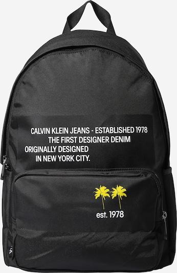 Calvin Klein Jeans Rucksack in gelb / schwarz / weiß, Produktansicht