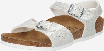 BIRKENSTOCK Sandale 'Rio' in silber / weiß, Produktansicht