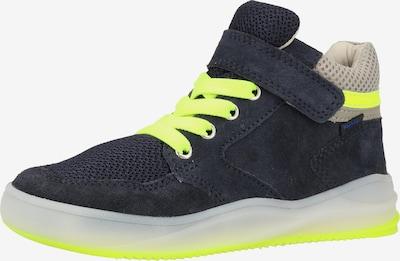 RICHTER Sneakers in de kleur Ultramarine blauw / Neongeel, Productweergave