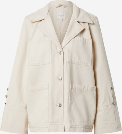 SELECTED FEMME Jeansjacke 'HELENA' in white denim, Produktansicht