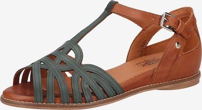 PIKOLINOS Sandale 'Talavera' in braun / smaragd, Produktansicht