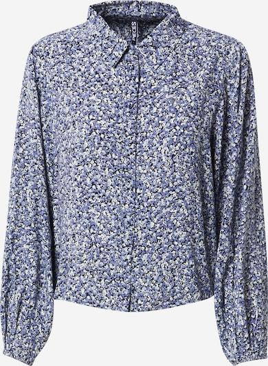 PIECES Blouse 'Dora' in de kleur Blauw / Wit, Productweergave