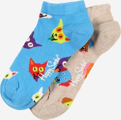 Happy Socks Socken  'Dog & Cat' in dunkelbeige / himmelblau / mischfarben, Produktansicht