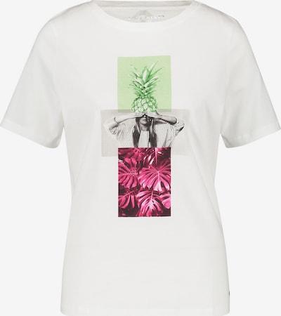 GERRY WEBER T-Shirt in grau / neongrün / pink / weiß, Produktansicht