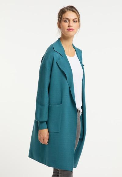 Usha Knitted coat in Petrol, View model