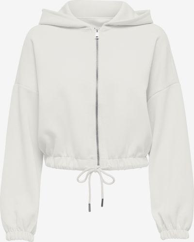 Only (Tall) Sweatjacke 'Scarlett' in weiß, Produktansicht