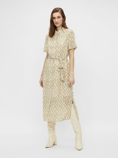 Rochie tip bluză OBJECT pe auriu / alb, Vizualizare model