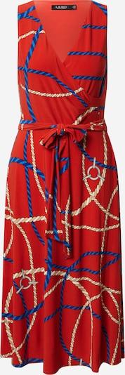 Lauren Ralph Lauren Kleid 'CARANA' in beige / hellbeige / navy / rot, Produktansicht