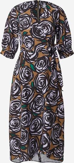 Closet London Kleid in braun / grün / schwarz / weiß, Produktansicht