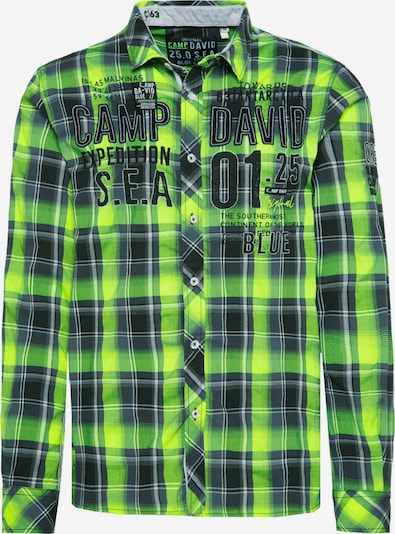 CAMP DAVID Button Up Shirt in Green / Neon green, Item view